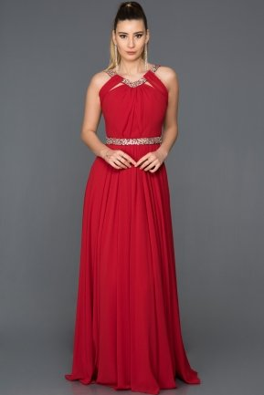 Long Red Evening Dress ABU103
