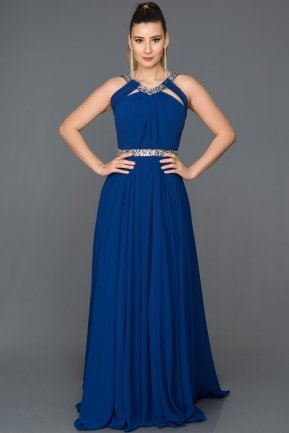 Long Sax Blue Evening Dress ABU103