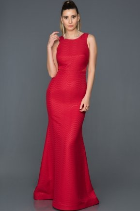 Long Red Prom Gown GG7041