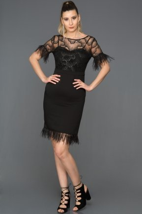 Short Black Evening Dress AB98826