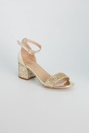 Gold Evening Shoes AB1005