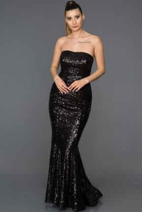 Long Black Mermaid Prom Dress ABU232
