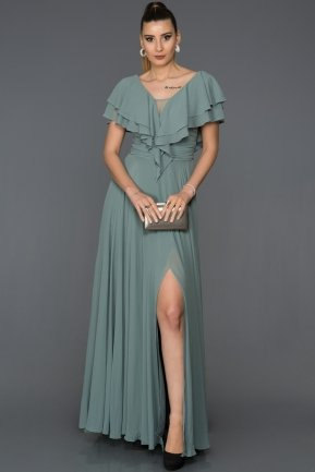 Long Turquoise Engagement Dress AB4519