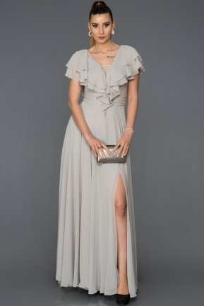 Long Grey Engagement Dress AB4519