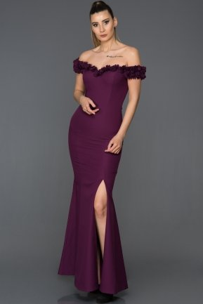 Long Purple Mermaid Prom Dress AB6070