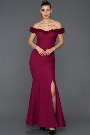 Long Plum Mermaid Prom Dress AB6070