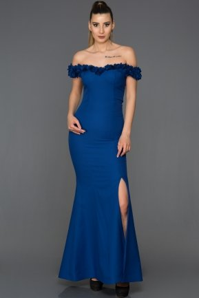 Long Sax Blue Mermaid Prom Dress AB6070