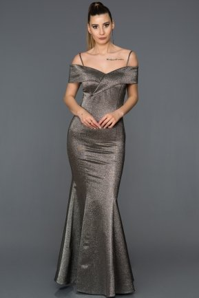 Long Antrasite Mermaid Prom Dress AB6090