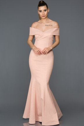 Long Powder Color Mermaid Prom Dress AB6090