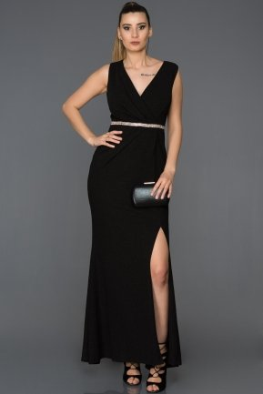 Long Black Prom Gown AB5026