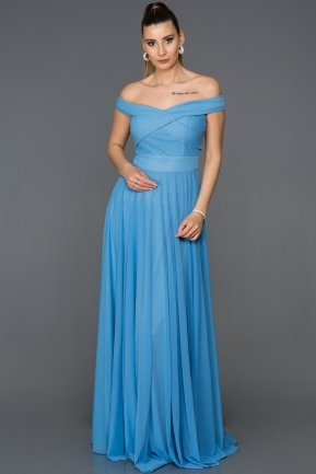 Long Indigo Evening Dress ABU008