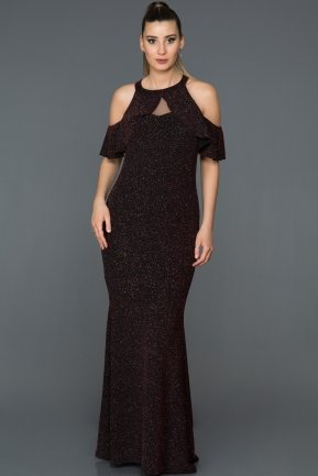 Long Burgundy Prom Gown AB38216