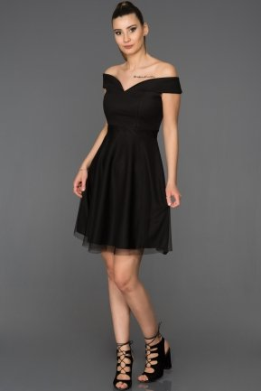 Short Black Invitation Dress AB3360