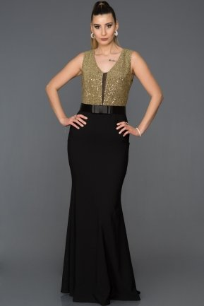 Long Gold Mermaid Prom Dress ABU134
