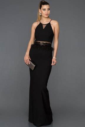 Long Black Mermaid Evening Dress AB3432