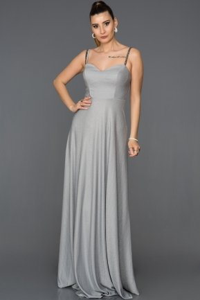Long Grey Prom Gown AB3434