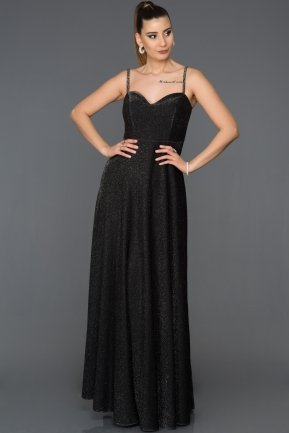 Long Black Prom Gown AB3434