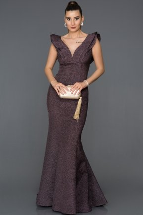 Long Violet Mermaid Prom Dress AB7583