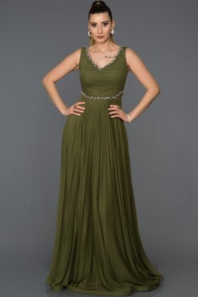 Long Olive Drab Engagement Dress AB7085