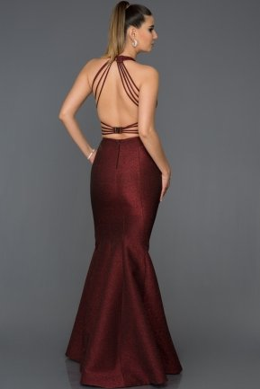 Long Burgundy Engagement Dress AB7507