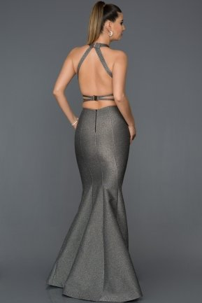Long Grey Engagement Dress AB7507