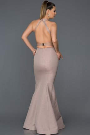 Long Powder Color Engagement Dress AB7507