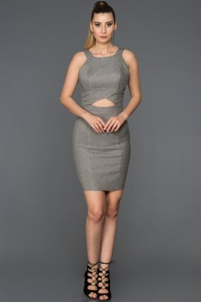 Short Grey Invitation Dress AB8159