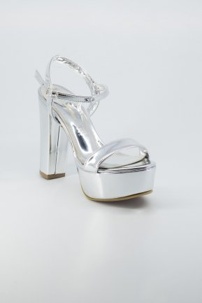 Silver Mirror Evening Shoes AB1008