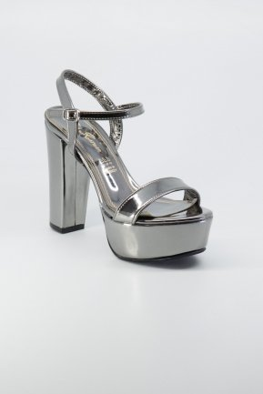 Platin Mirror Evening Shoes AB1008