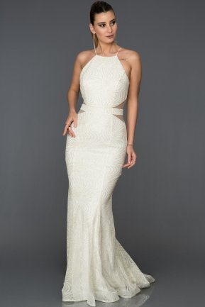 Long Ecru Mermaid Prom Dress AB7491