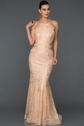 Long Powder Color Mermaid Prom Dress AB7491