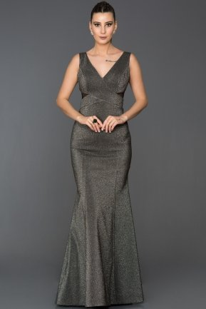 Long Black-Silver Mermaid Prom Dress AB7501