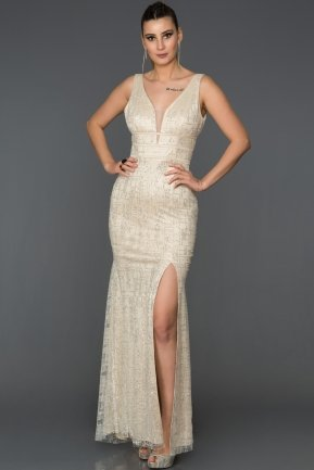 Long Ecru Mermaid Prom Dress AB7505