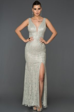 Long Grey Mermaid Prom Dress AB7505