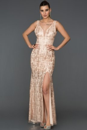 Long Salmon Mermaid Prom Dress AB7505