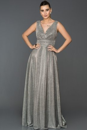Long Black-Silver Engagement Dress AB7528