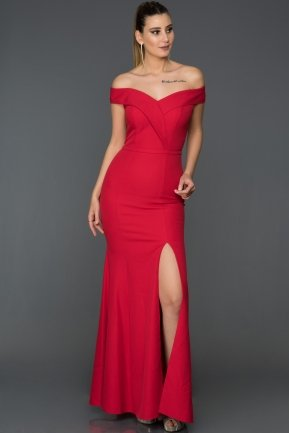 Long Red Mermaid Prom Dress AB7540