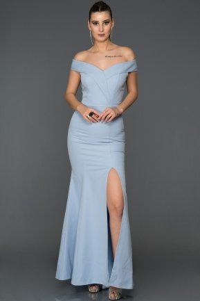 Long Blue Mermaid Prom Dress AB7540