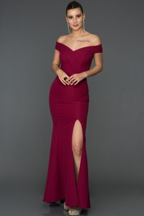 Long Plum Mermaid Prom Dress AB7540