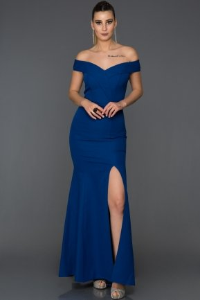 Long Sax Blue Mermaid Prom Dress AB7540