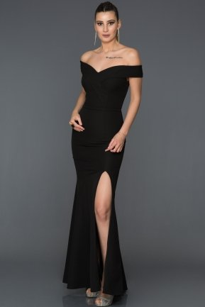 Long Black Mermaid Prom Dress AB7540