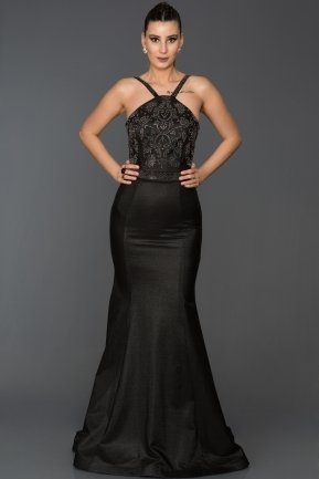 Long Black Mermaid Evening Dress AB2576