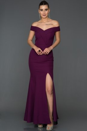 Long Violet Mermaid Prom Dress AB7540