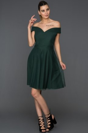 Short Emerald Green Invitation Dress AB3360