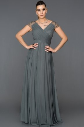 Long Anthracite Evening Dress ABU025