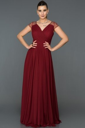 Long Burgundy Evening Dress AB2608