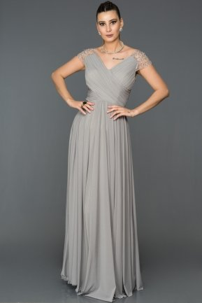 Long Grey Evening Dress ABU025