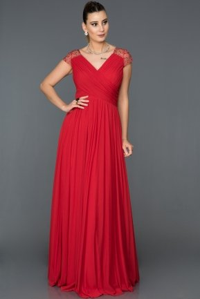 Long Red Evening Dress ABU025