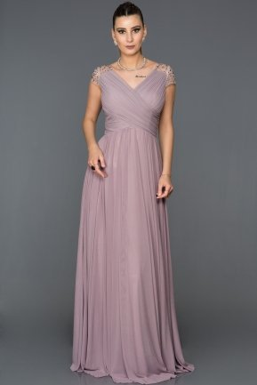 Long Lavander Evening Dress ABU025