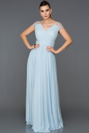 Long Blue Evening Dress ABU025
